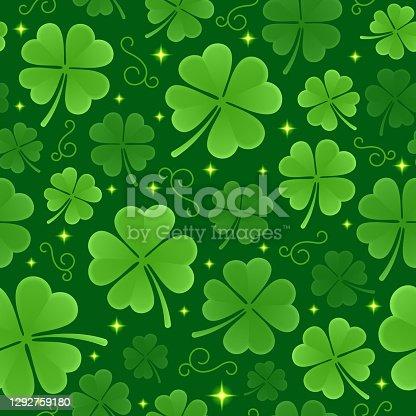 istock Seamless St. Patrick's Day Background Pattern 1292759180