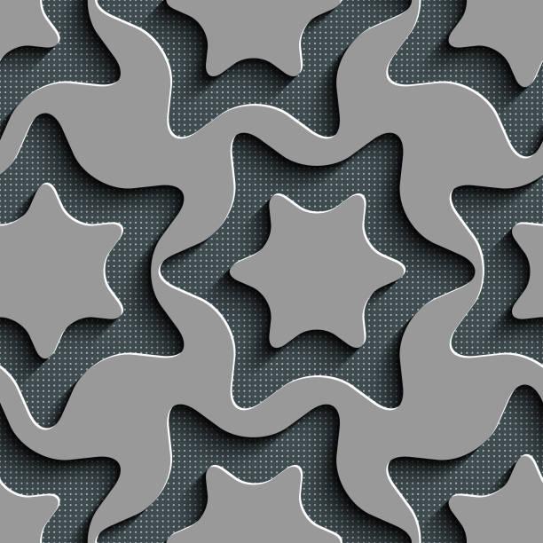 Nahtlose Sterne Muster – Vektorgrafik