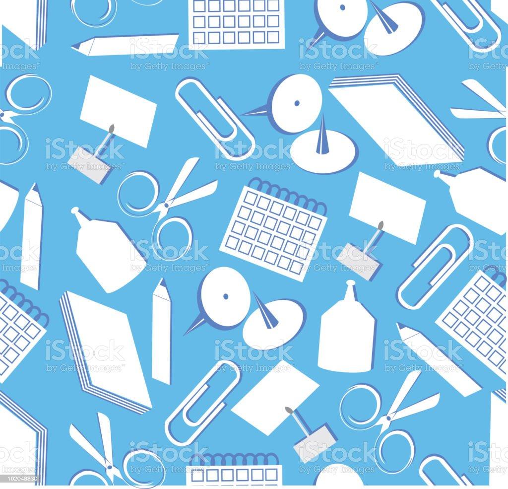 Seamless stationery royalty-free stock vector art