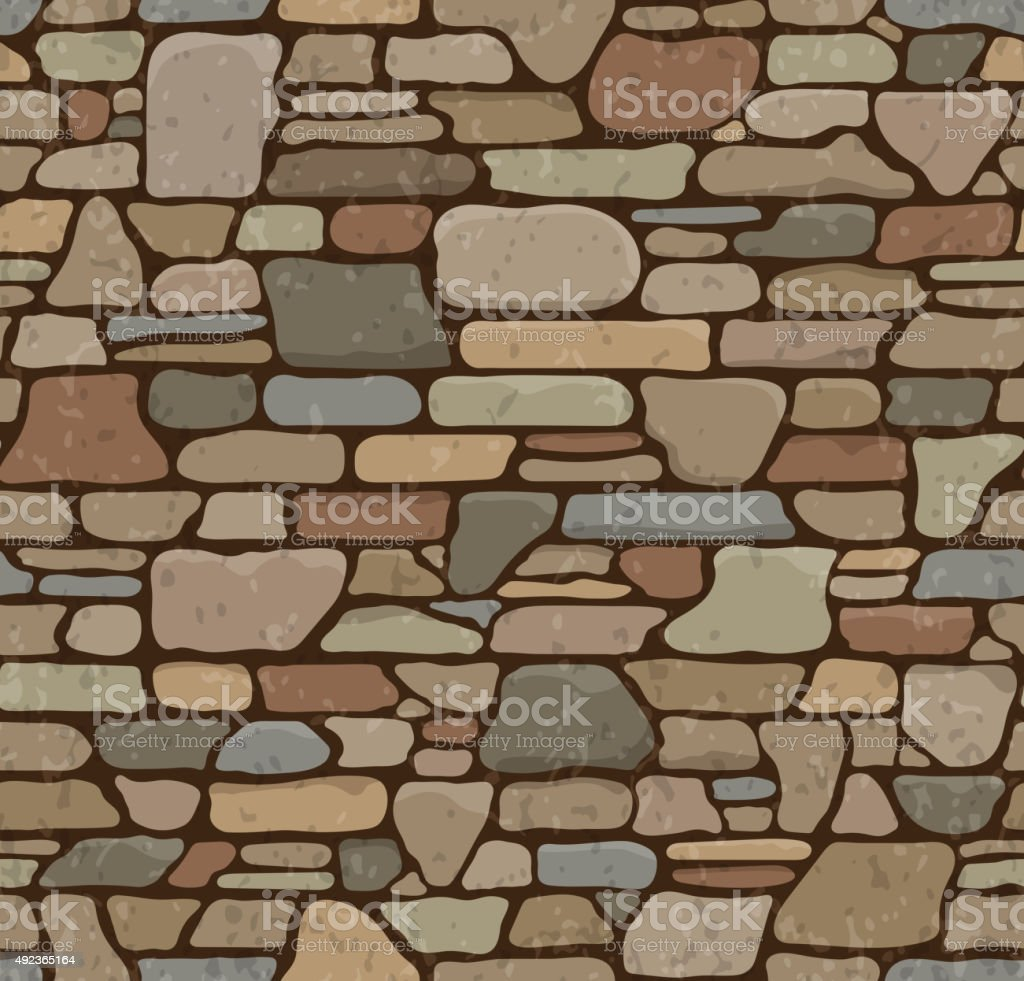 . Seamless Stone Texture Stock Vector Art   More Images of 2015   iStock