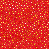 Seamless strawberry jam pattern.