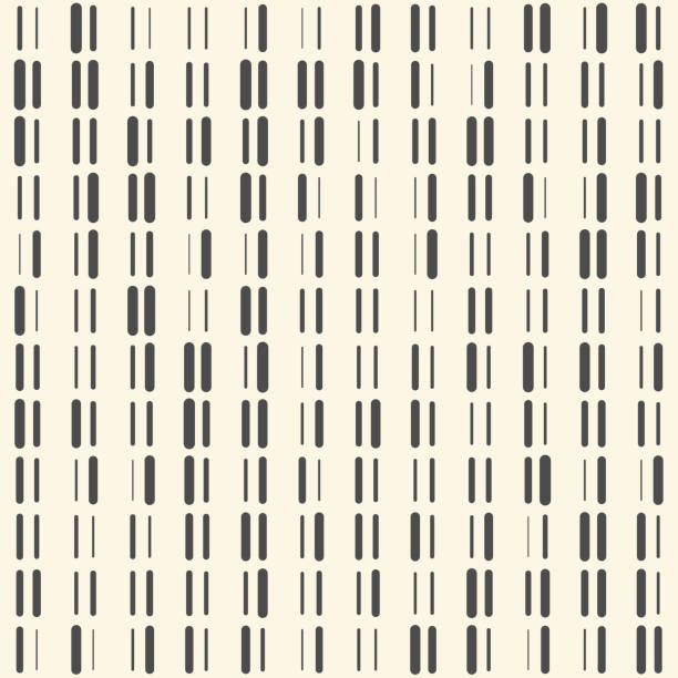 Nahtlose Stripe Hintergrund. Vektor Monochrome Textur – Vektorgrafik