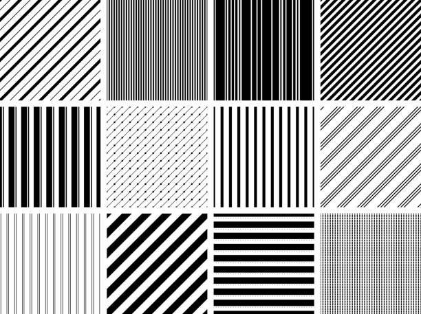 Seamless Stripe Patterns vector art illustration