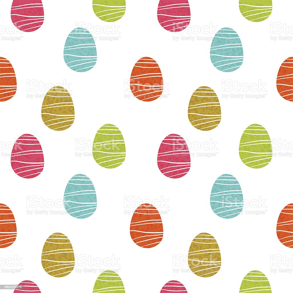 Seamless striped Easter egg pattern royalty-free stock vector art