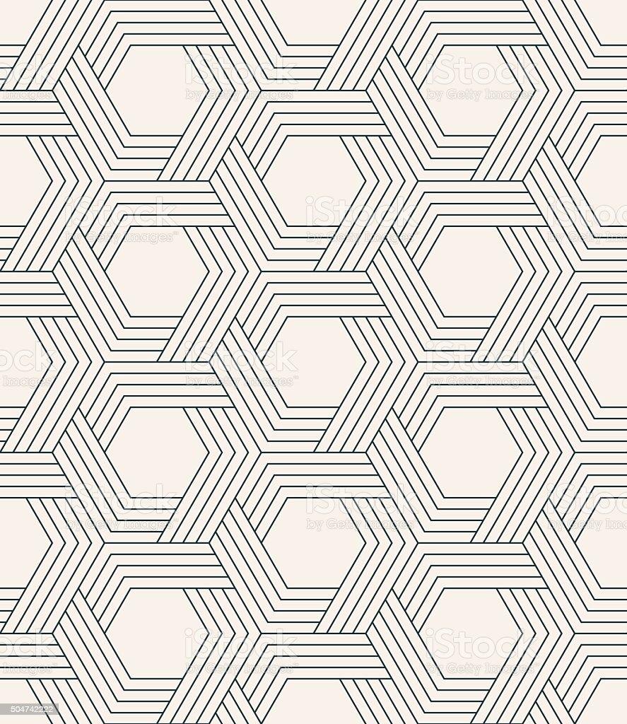 Ilustración de Tejer Patrón Geométrico Sin Fisuras Con Rayas De ...
