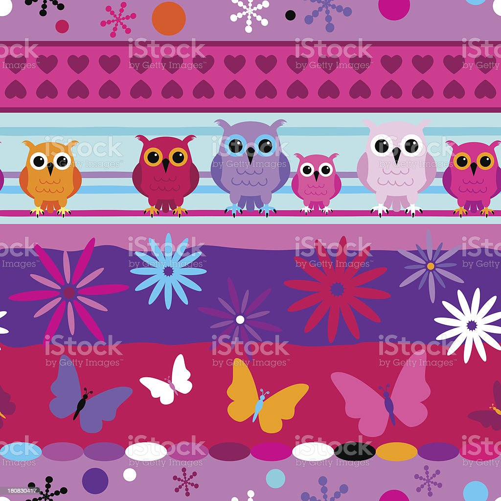 Seamless striped pattern girl colors royalty-free stock vector art