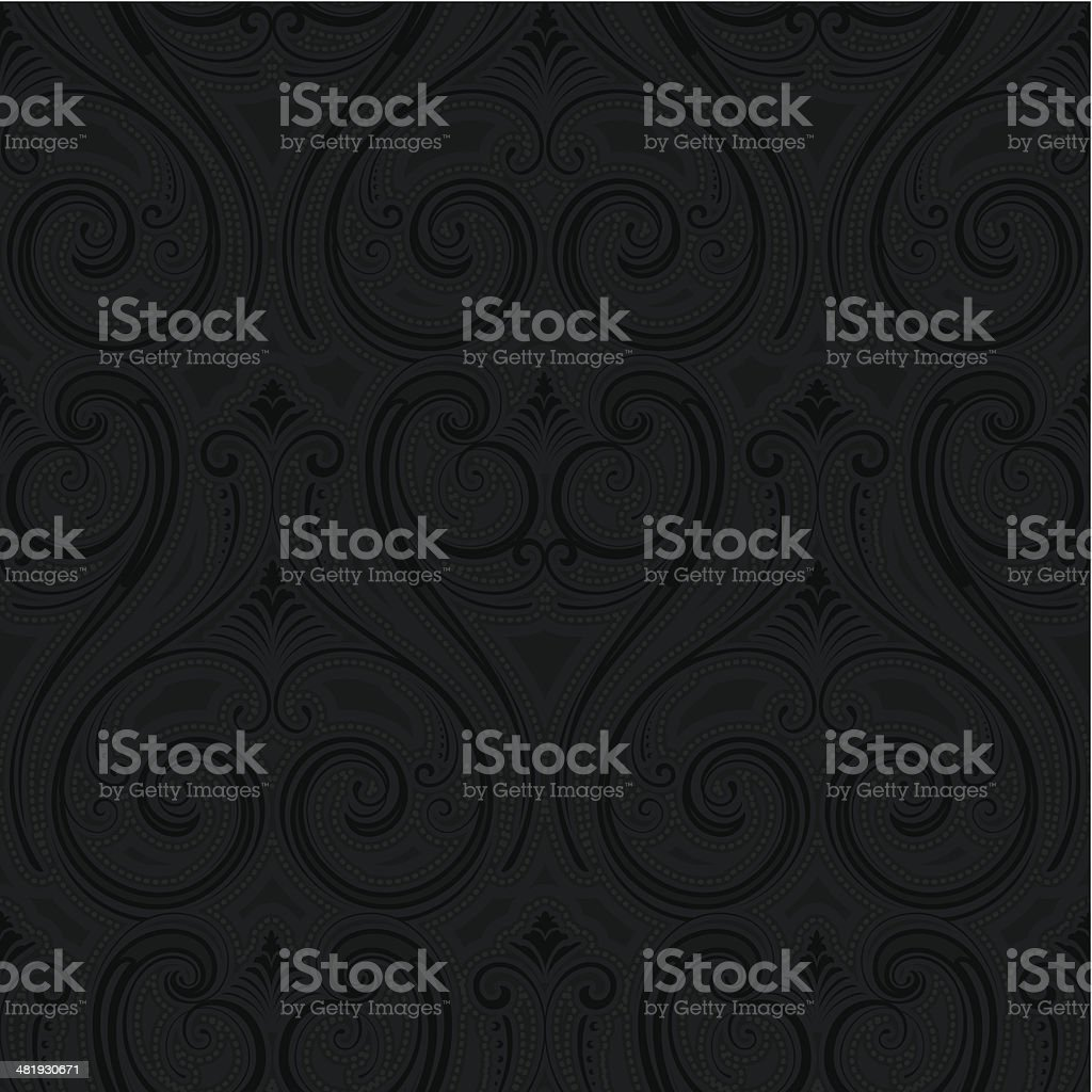 Seamless stylised wallpaper background royalty-free stock vector art