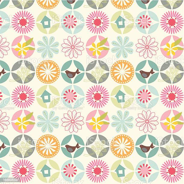 Seamless Stylish Flower Pattern Stock Illustration - Download Image Now