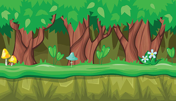 Royalty Free Cartoon Forest Landscape Endless Vector ...