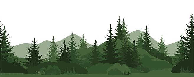 Seamless, Summer Forest clipart