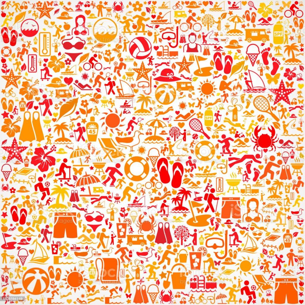 Seamless Summer royalty free vector art Pattern vector art illustration