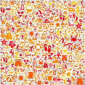 Seamless Summer royalty free vector art Pattern