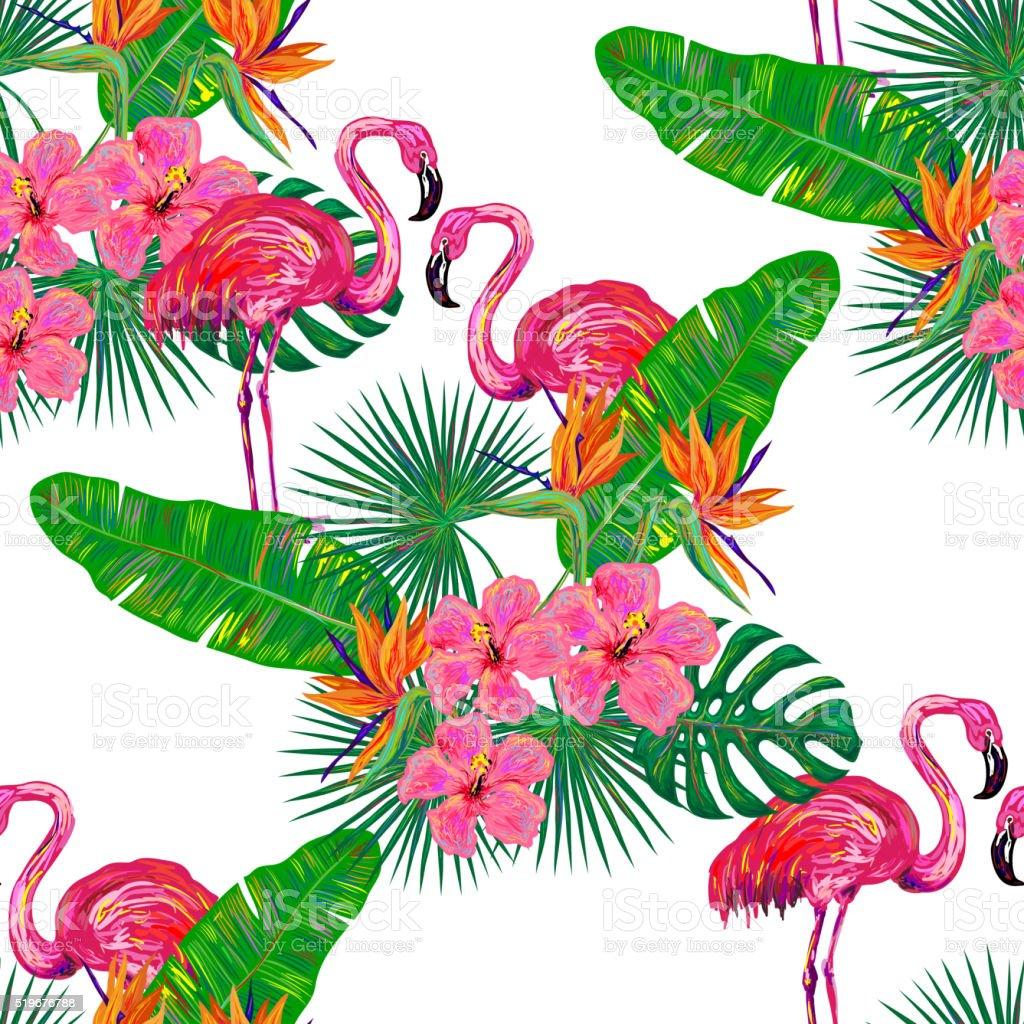 sans soudure t tropical motif avec flamant rose cliparts vectoriels et plus d 39 images de. Black Bedroom Furniture Sets. Home Design Ideas
