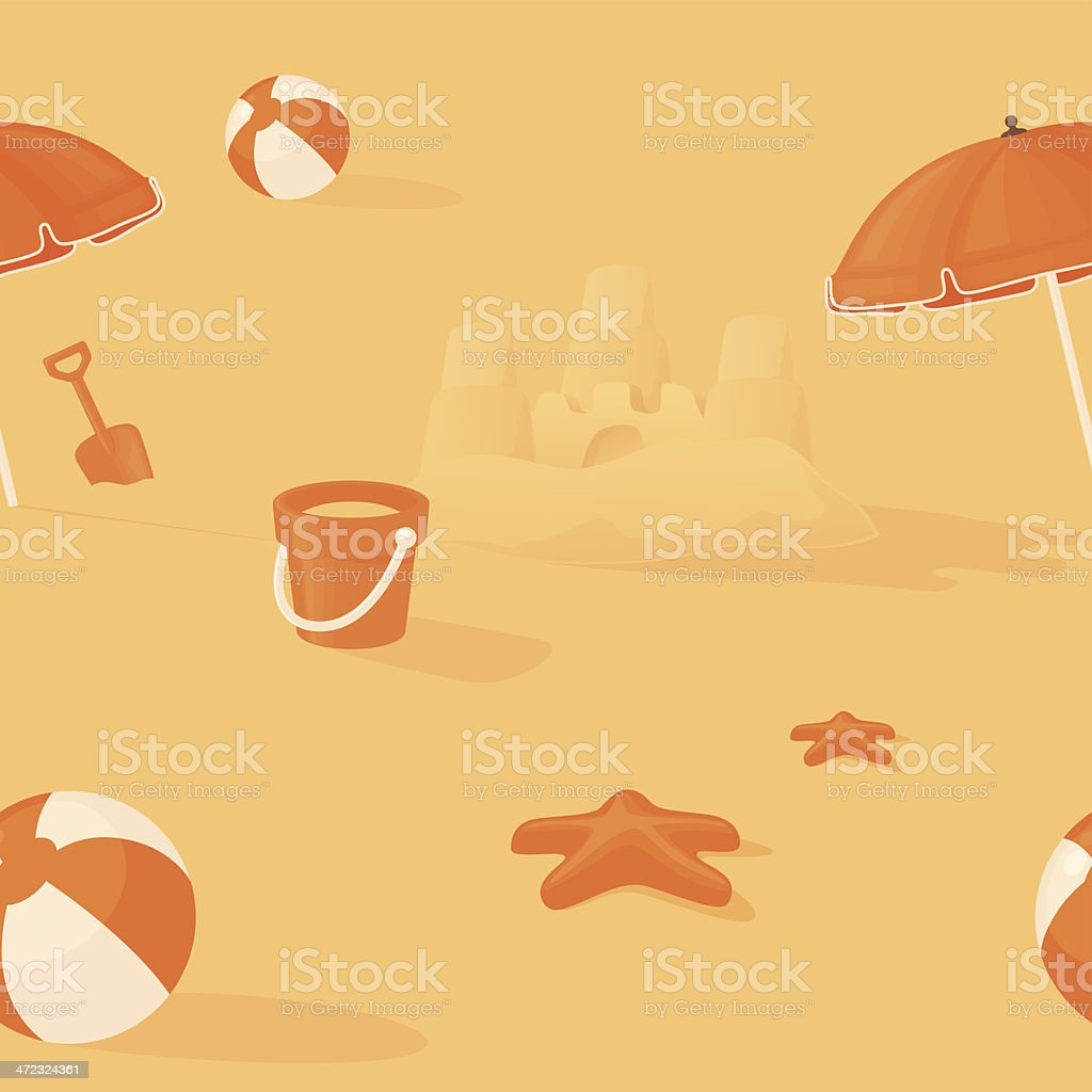 Seamless Summer vector art illustration