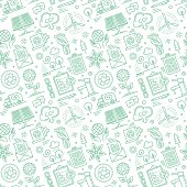 Seamless pattern background vector illustration for sustainability and environment compositions.