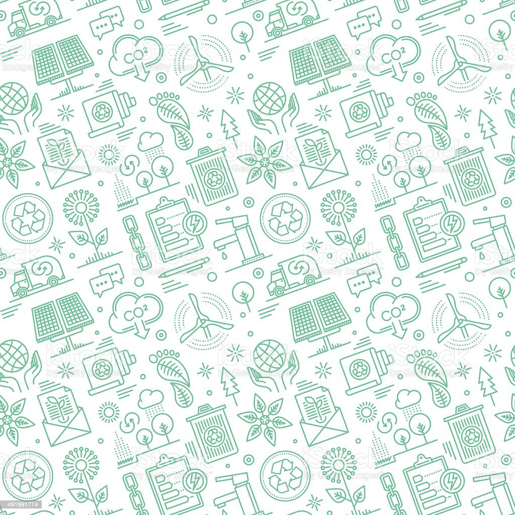 Seamless Sustainability Pattern vector art illustration