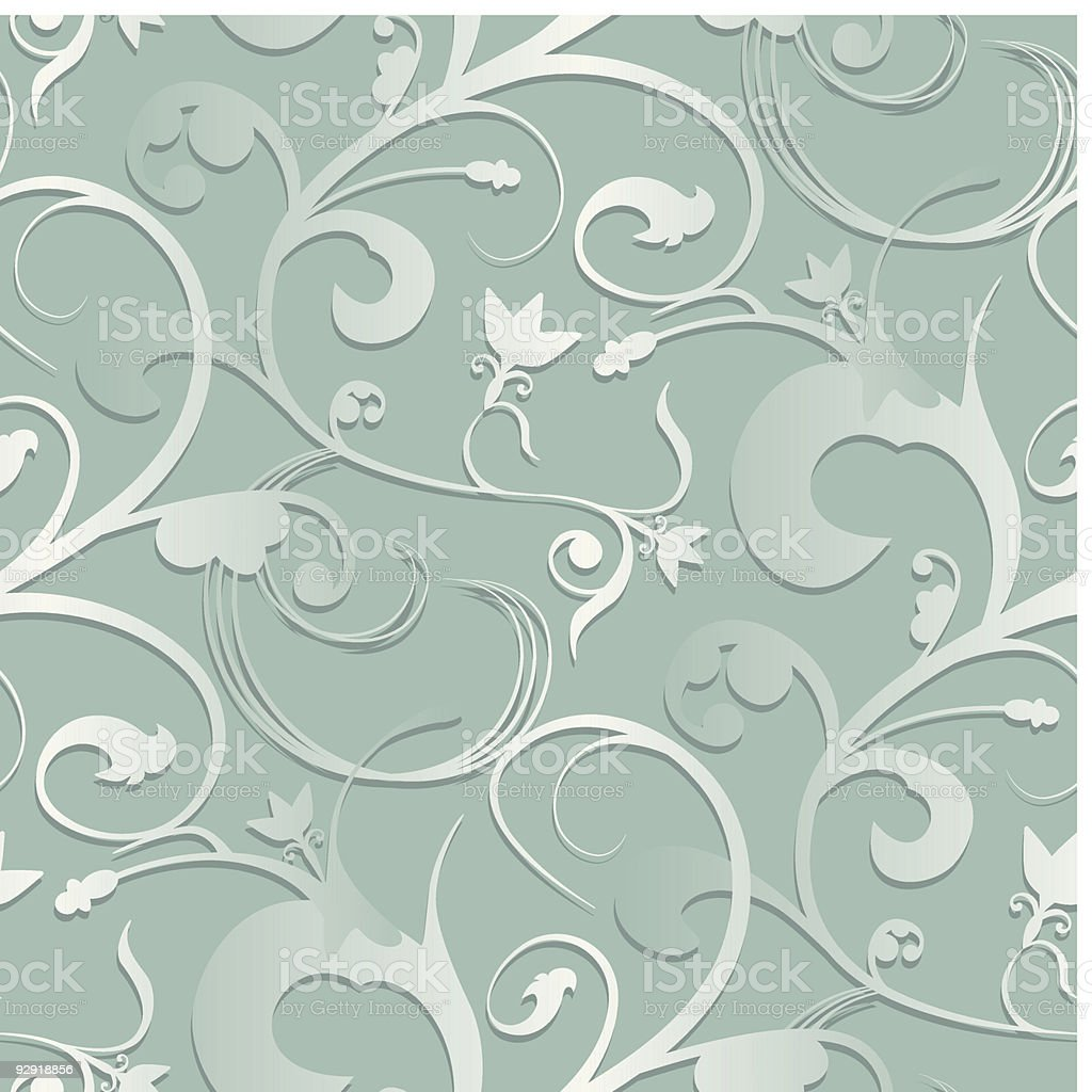 Seamless Swirly Wallpaper royalty-free stock vector art