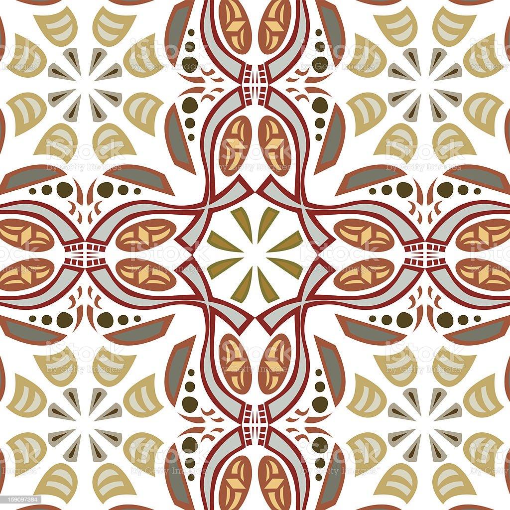 Seamless Symmetrical Pattern royalty-free stock vector art