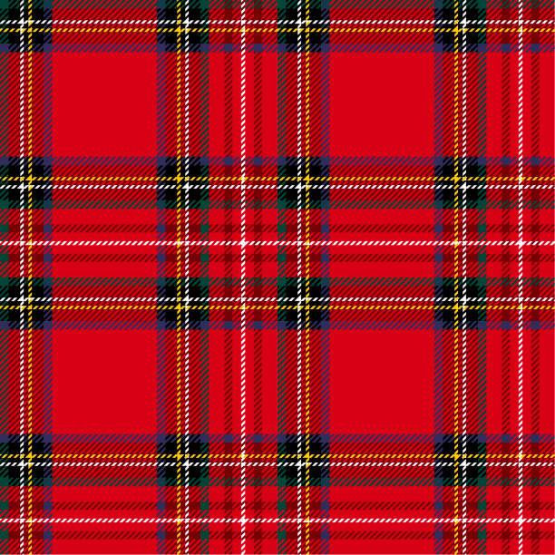 seamless tartan background - papier do pakowania stock illustrations
