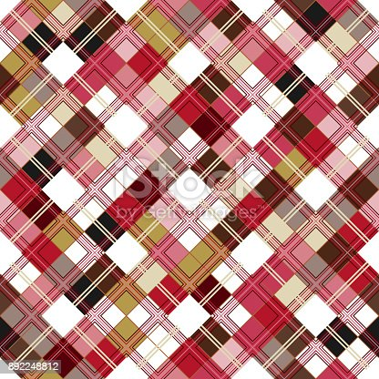 istock Seamless tartan pattern. Checkered colorful pnk texture for clothing fabric prints and home textile 892248812