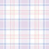 Seamless light tartan plaid pattern. Checkered fabric texture background. Vector flat illustration. Towel, bed sheet, tablecloth.