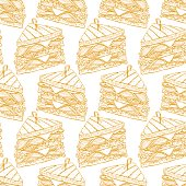 cute seamless background of tasty sandwiches. hand-drawn illustration