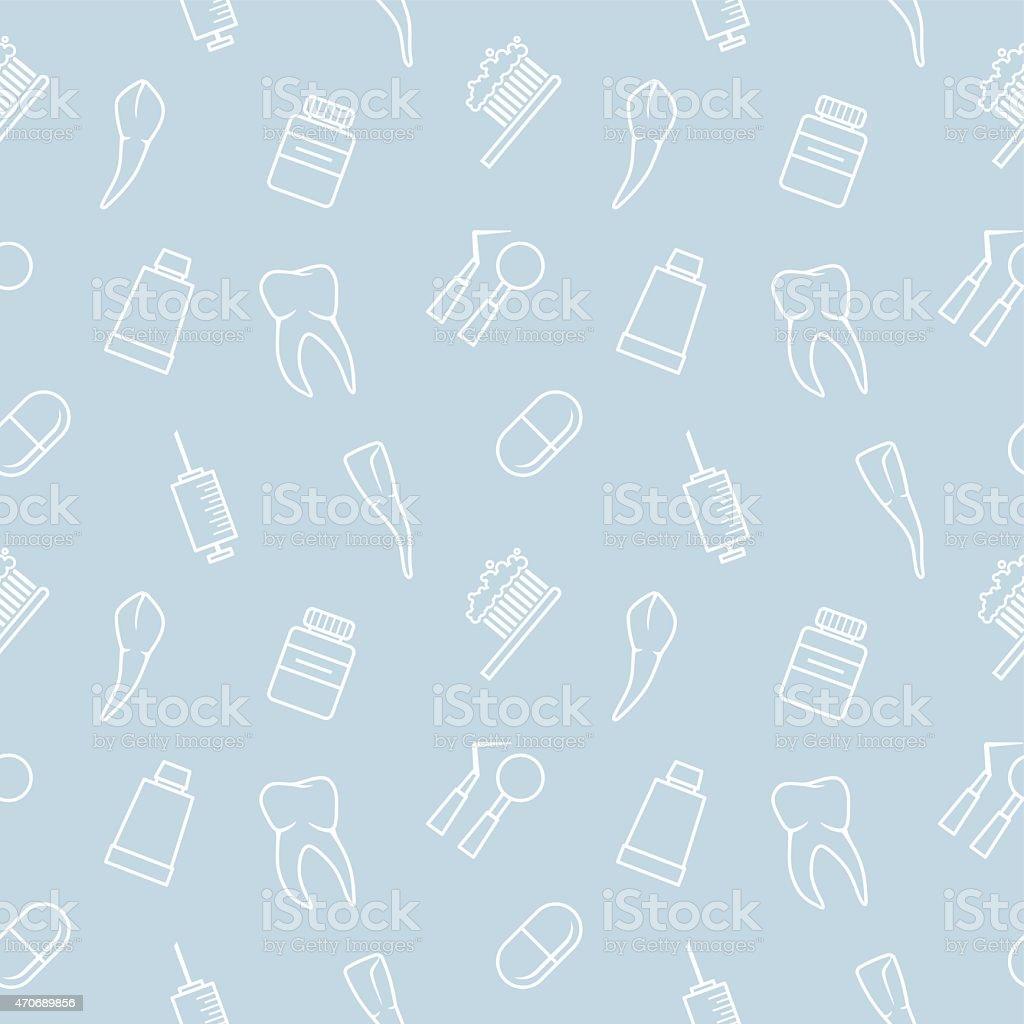 Seamless Teeth Light Blue Pattern Royalty Free Lightblue Stock Vector Art