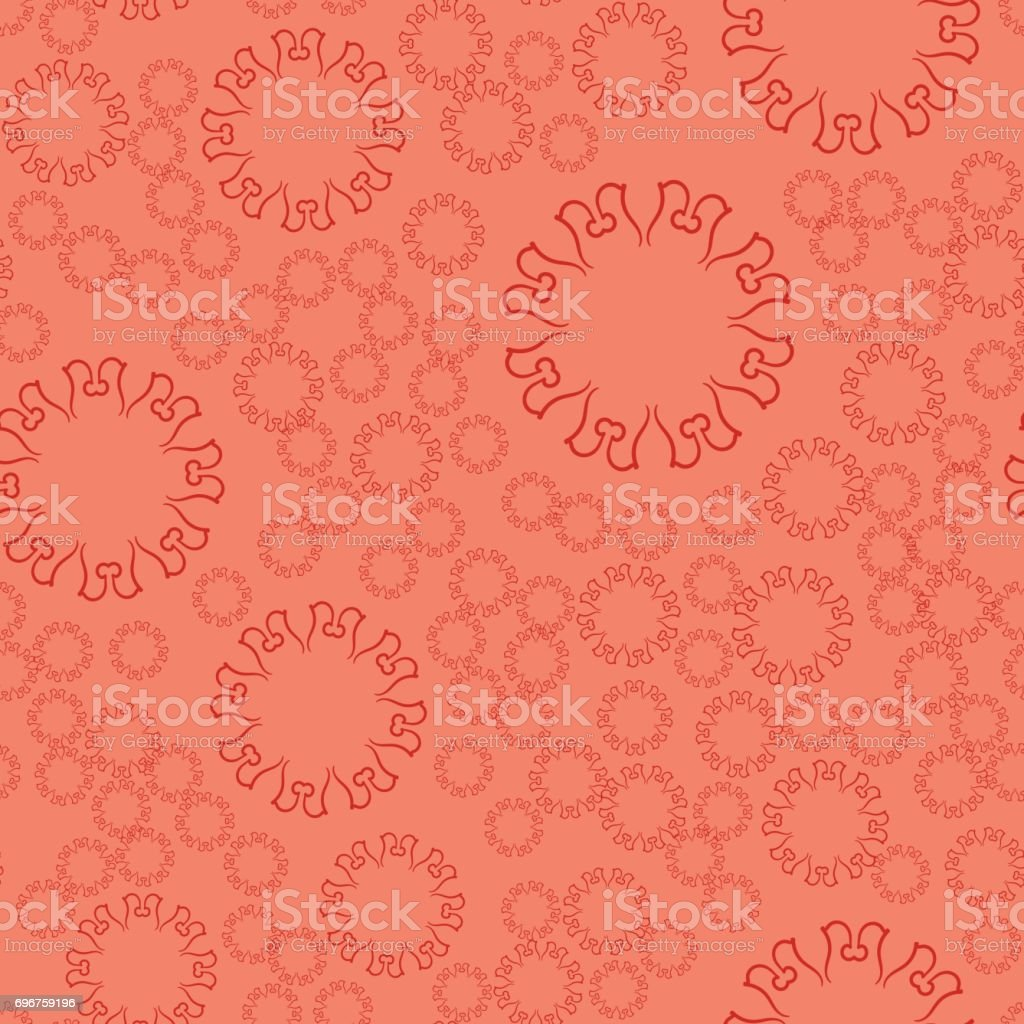 Seamless Terrcota Flower Mandala For Print On Textile Fabric Coloring Books And Abstract Backgrounds Stock Illustration Download Image Now Istock