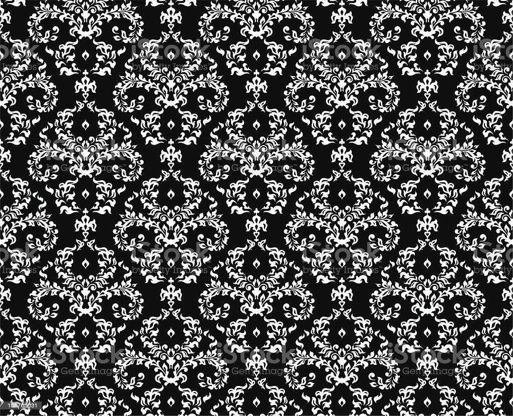Seamless textile/wallpaper pattern royalty-free stock vector art