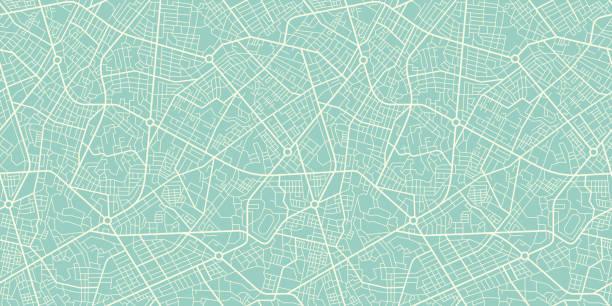 復古風格的無縫紋理城市地圖。示意圖 - 圖畫 藝術品 幅插畫檔、美工圖案、卡通及圖標