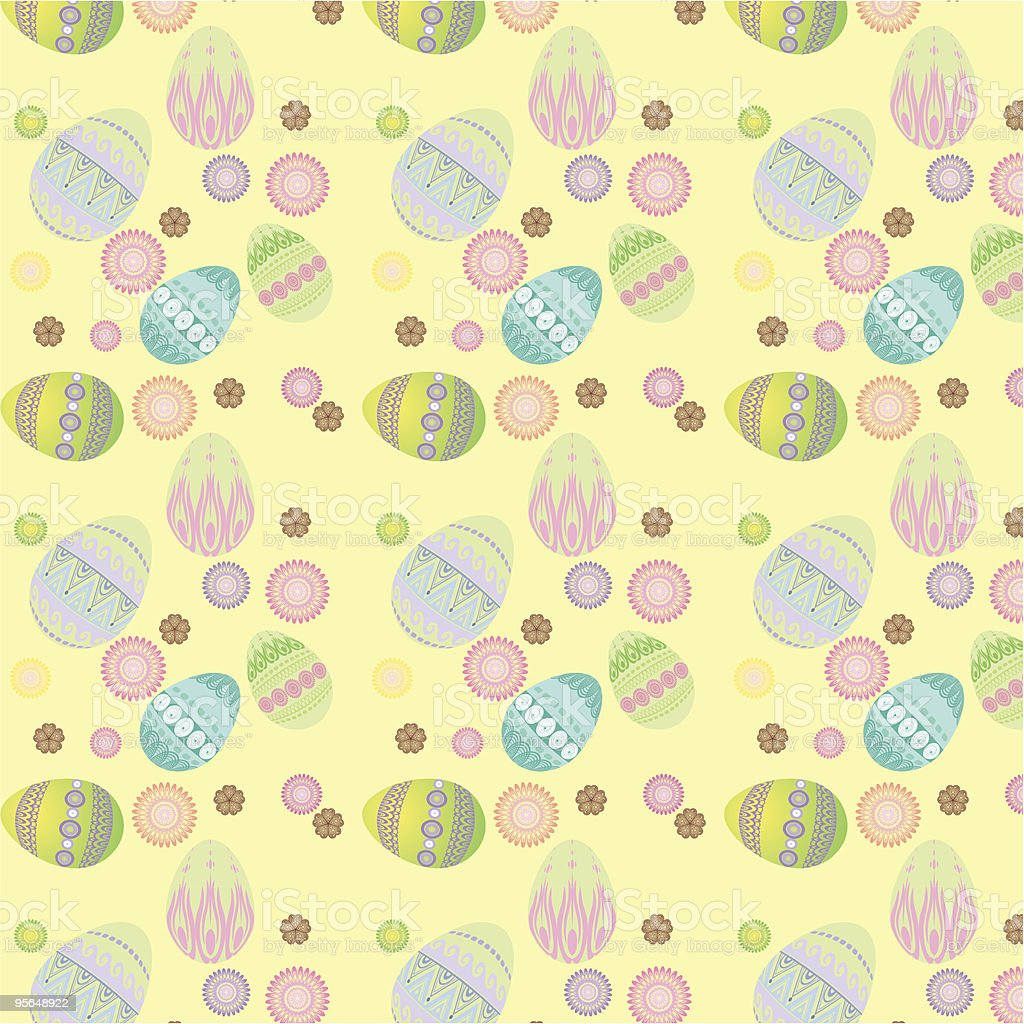 seamless texture easter egg royalty-free stock vector art
