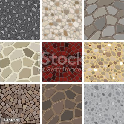 A collection of floor decoration texture. All design are seamless and