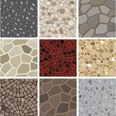 A collection of floor decoration texture. All design are seamless and \