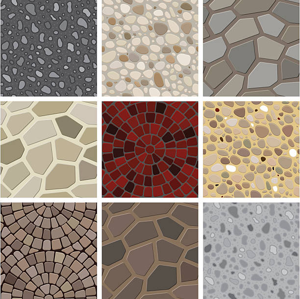 Seamless texture - floor decoration vector art illustration