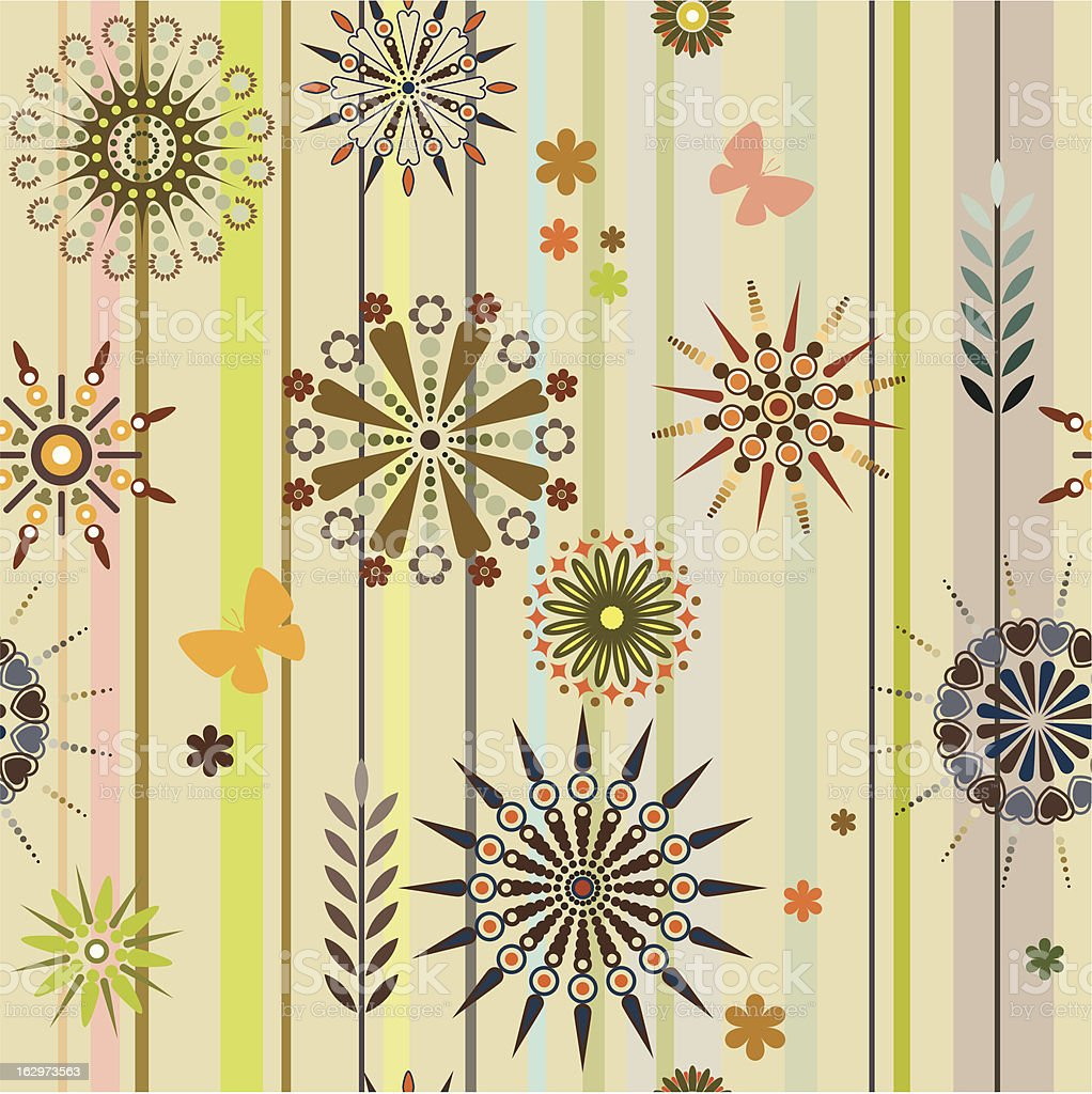 Seamless texture, flowers and grass royalty-free stock vector art