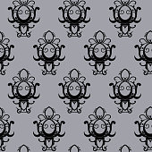 Seamless texture Fluer de list,  printing on fabric, wallpaper