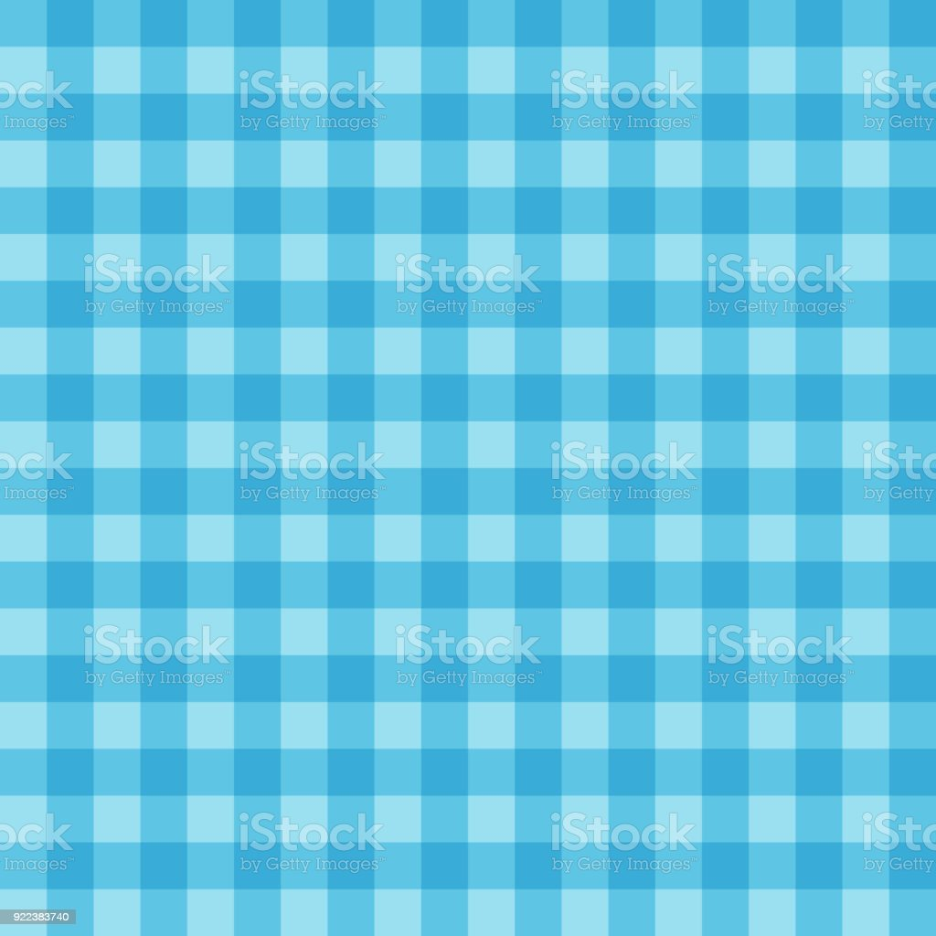 Seamless Texture Geometric Vector Blue Color Checkered