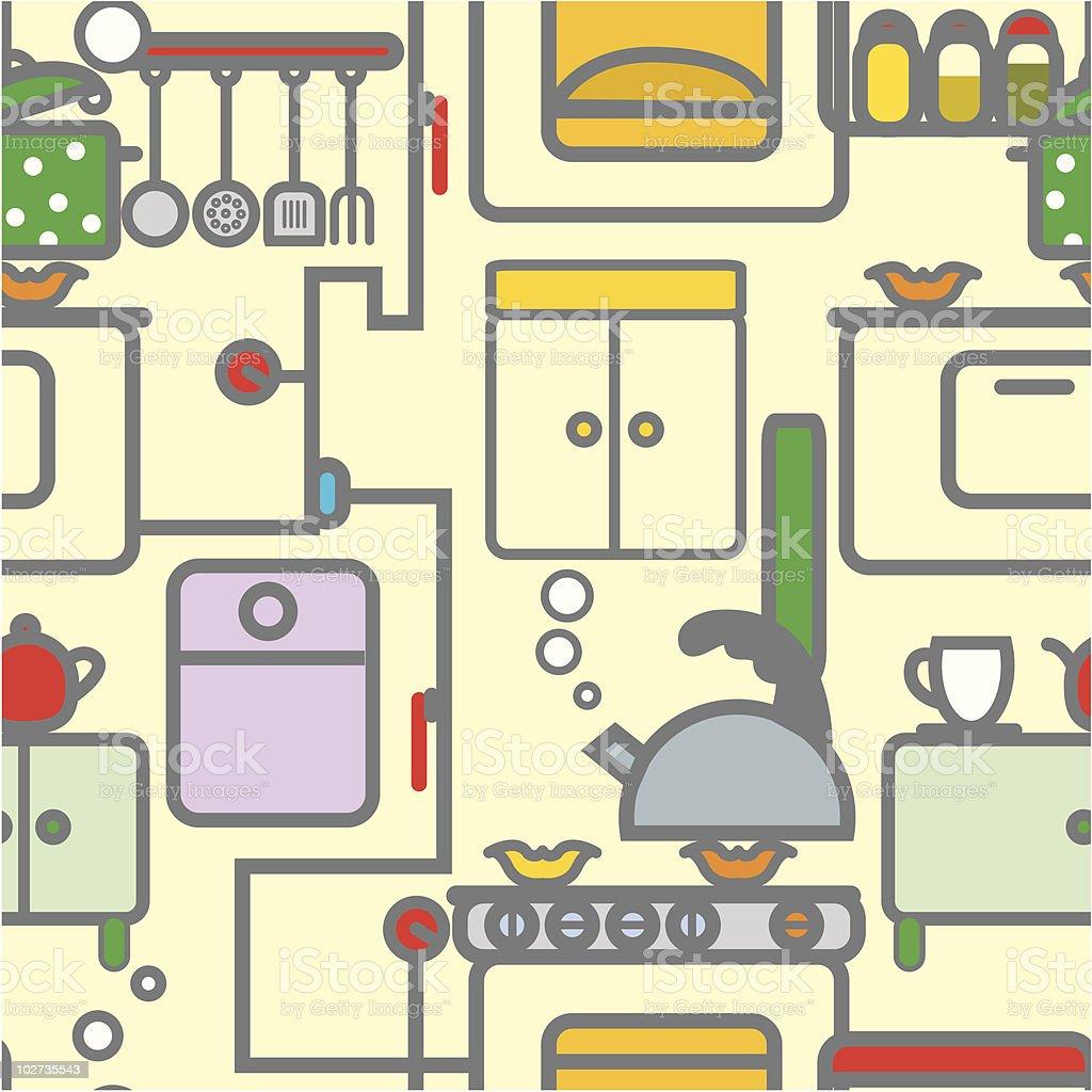 Seamless texture kitchen royalty-free stock vector art