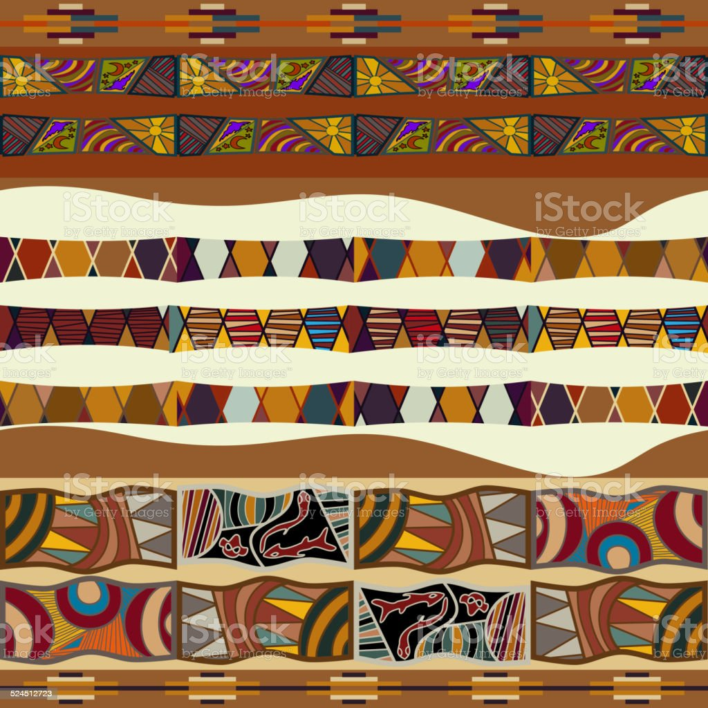 Seamless texture of African vector art illustration