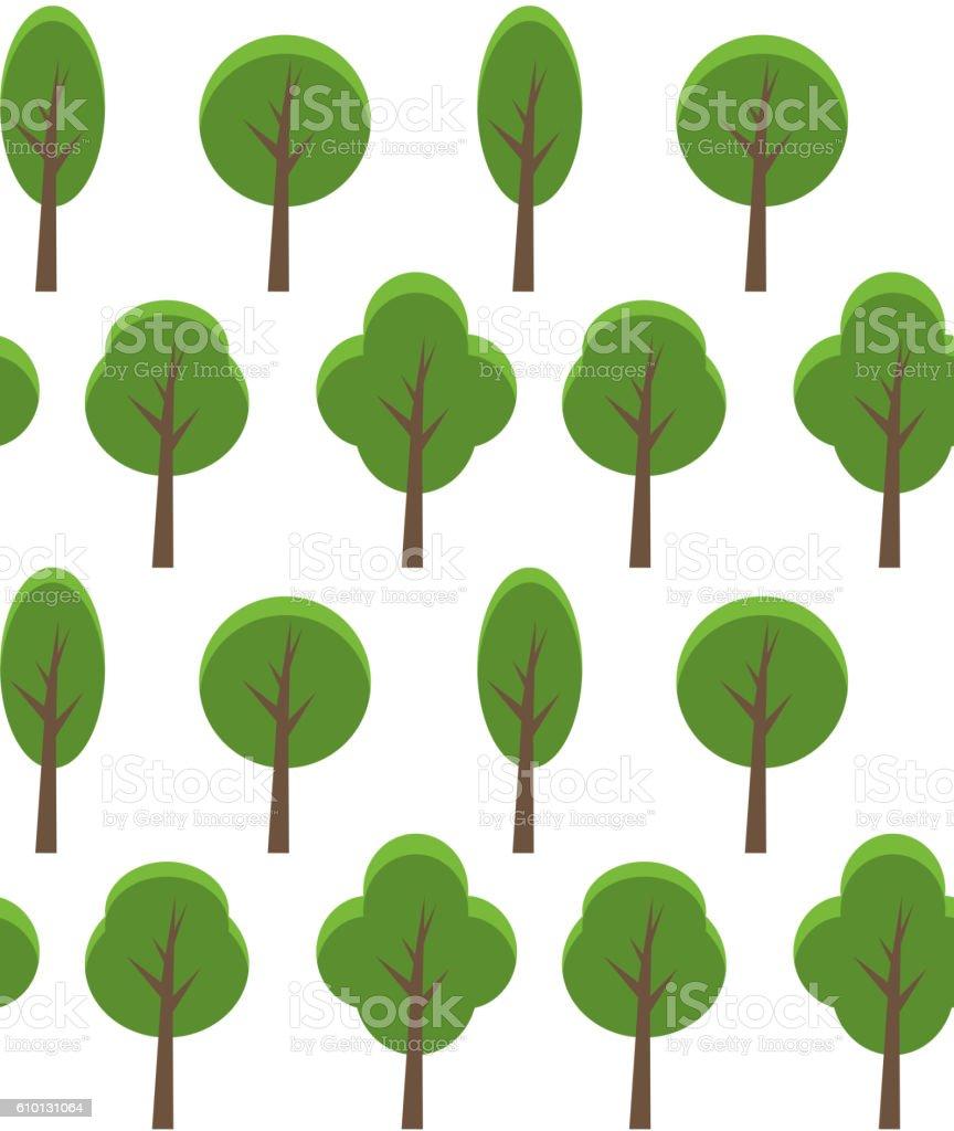 seamless texture of cartoon trees stock vector art 610131064 istock