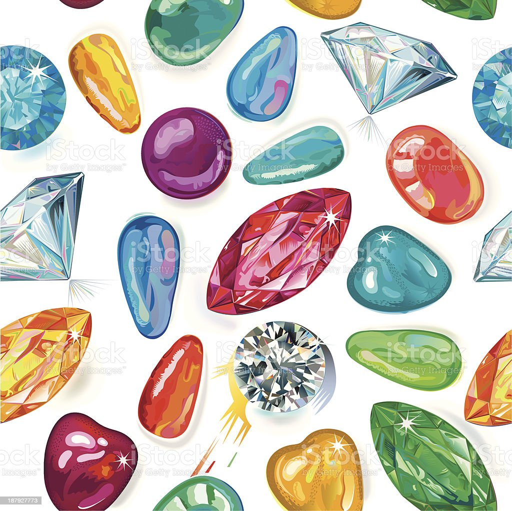 Seamless texture of colored gems royalty-free stock vector art