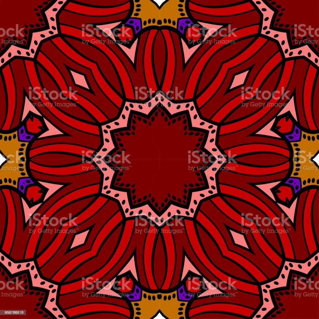 花の飾りのシームレスなテクスチャ。ベクトルの図。インテリア デザイン、印刷、web、繊維の - イラストレーションのロイヤリティフリーベクトルアート