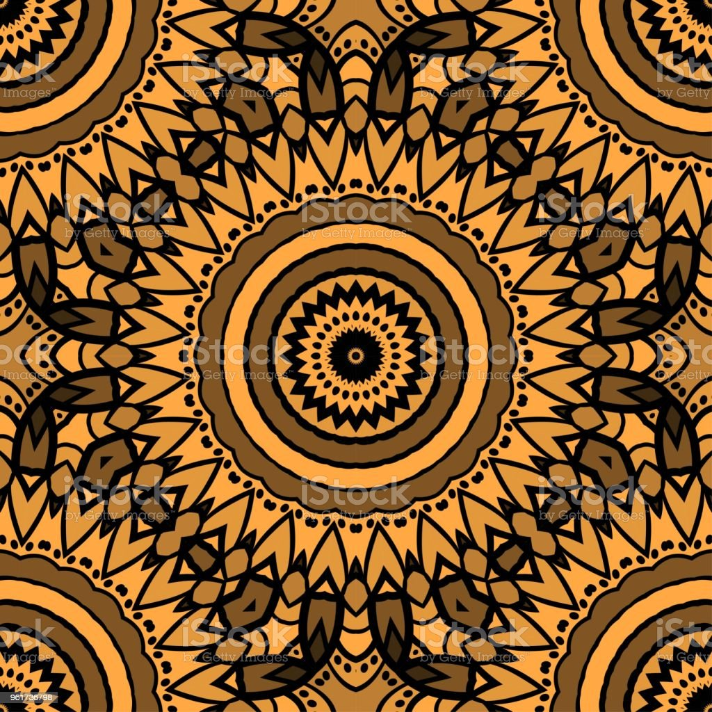 Seamless texture of floral ornament. Vector illustration. For the interior design, printing, web and textile vector art illustration