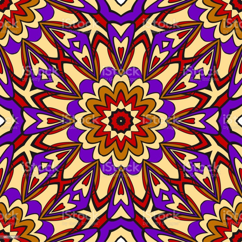 Seamless texture of floral ornament. Vector illustration. For the interior design, printing, web and textile - arte vettoriale royalty-free di Adulto
