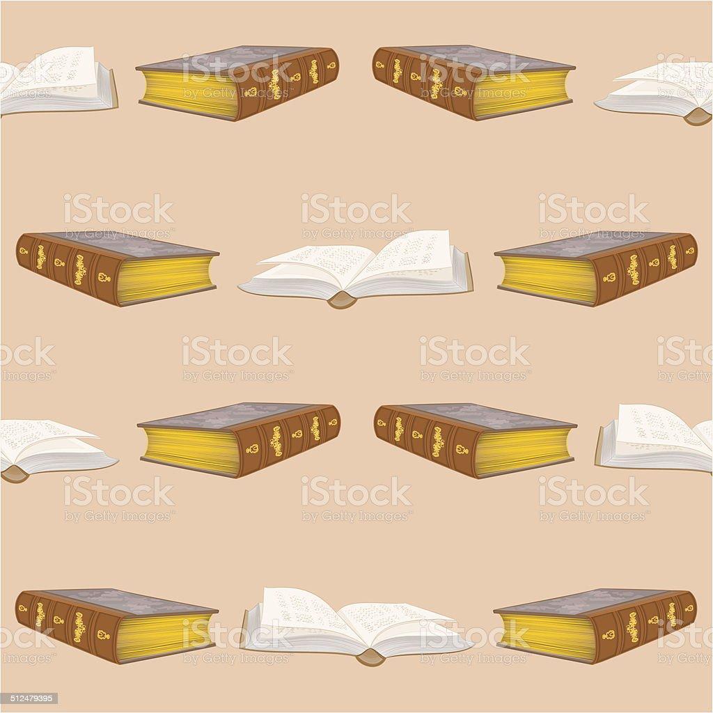 Nahtlose Textur-alte Bücher bound vintage Vektor – Vektorgrafik