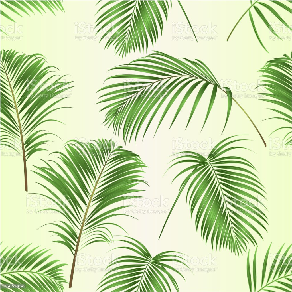 Seamless Texture Palm Leaves Decoration Tropical Plant On A Tropical Background Vintage Vector Illustration Editable Stock Illustration Download Image Now Istock