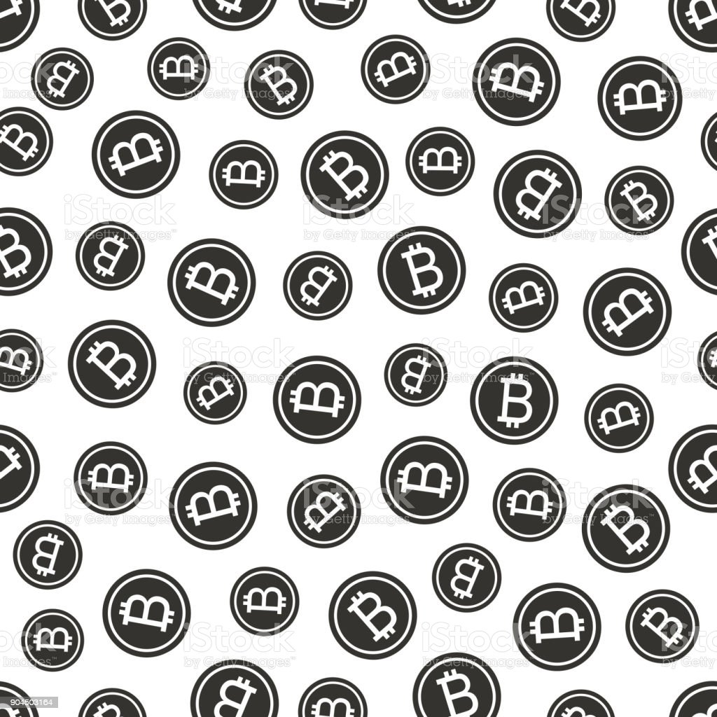 Seamless texture pattern bitcoin cripto currency blockchain flat. Block chain sticker for web or print. Vector background vector art illustration