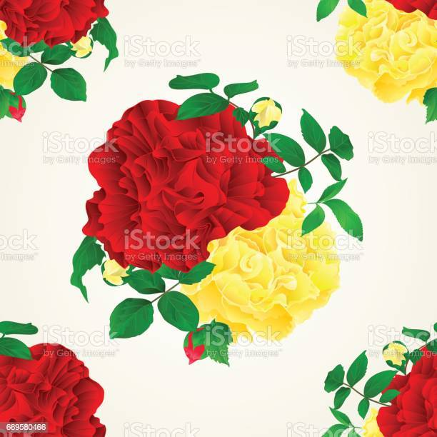 Seamless texture red and yellow rose with buds and leaves vintage vector id669580466?b=1&k=6&m=669580466&s=612x612&h=k76gbsd1xap ldyhcraphlp4a86pg7bjqtccenjfdti=
