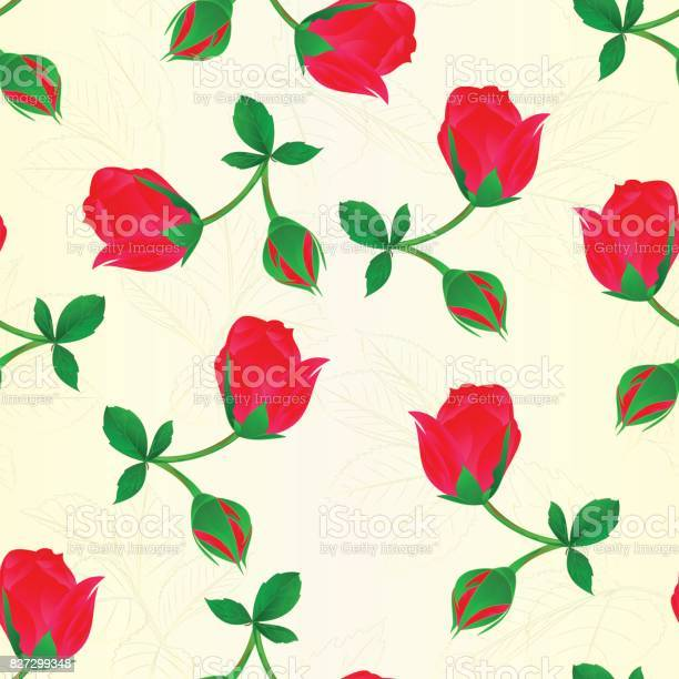 Seamless texture red rosebud stem with leaves and blossoms vintage vector id827299348?b=1&k=6&m=827299348&s=612x612&h=ygsvpqvw0 m8cwkzex2akpzv7dna6xuxaydw uxncry=