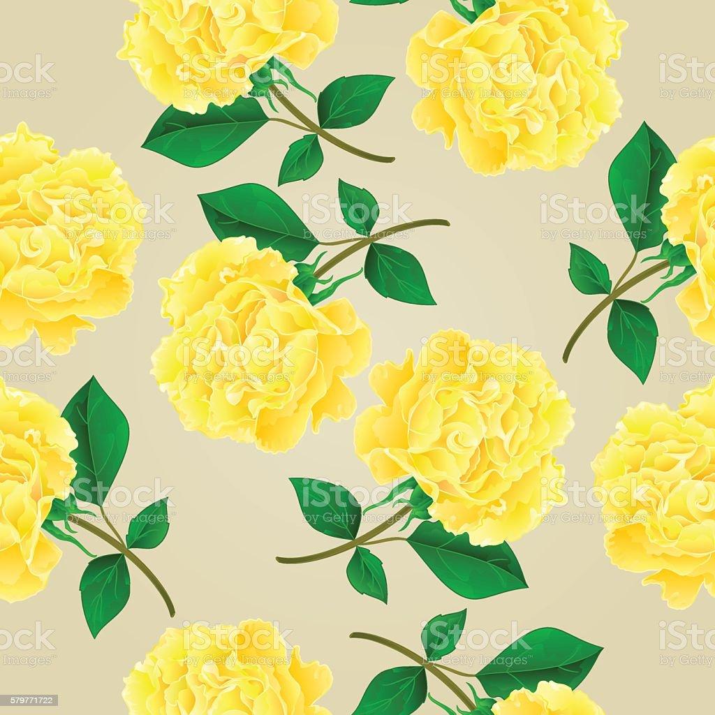 Seamless texture twig tea rose stem with leaves vector illustration